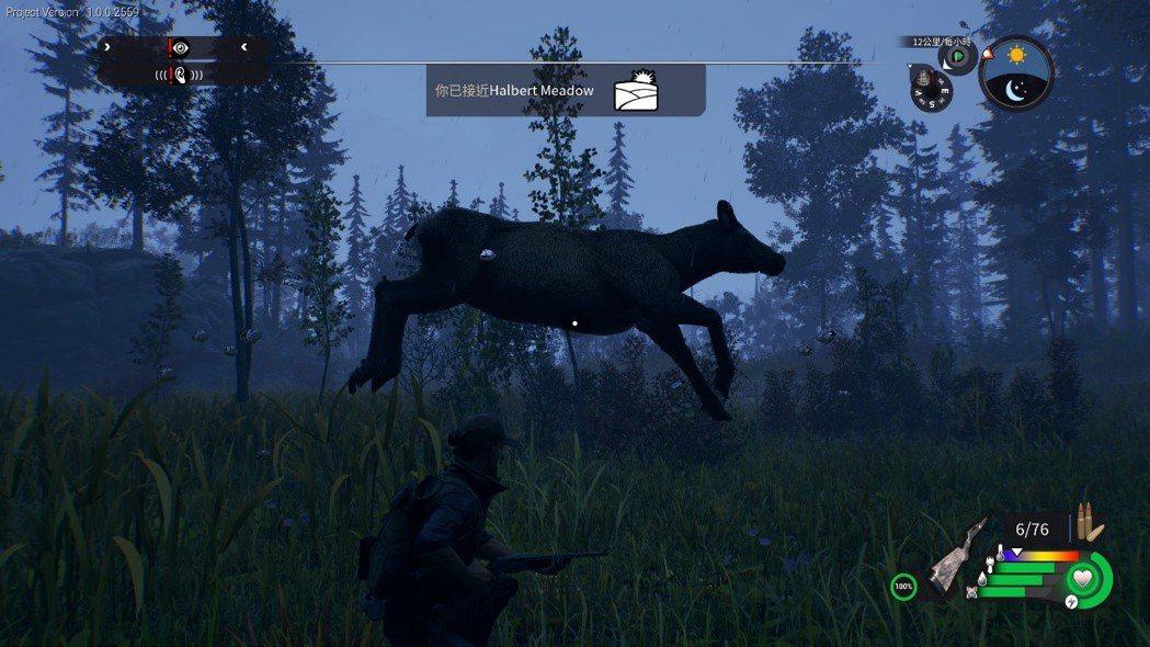因為地上有樹枝物件,就卡在空中無法繼續移動的母鹿