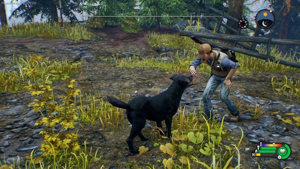 隨任務會遇到小狗同伴,可以養成羈絆度,會協助追蹤獵物