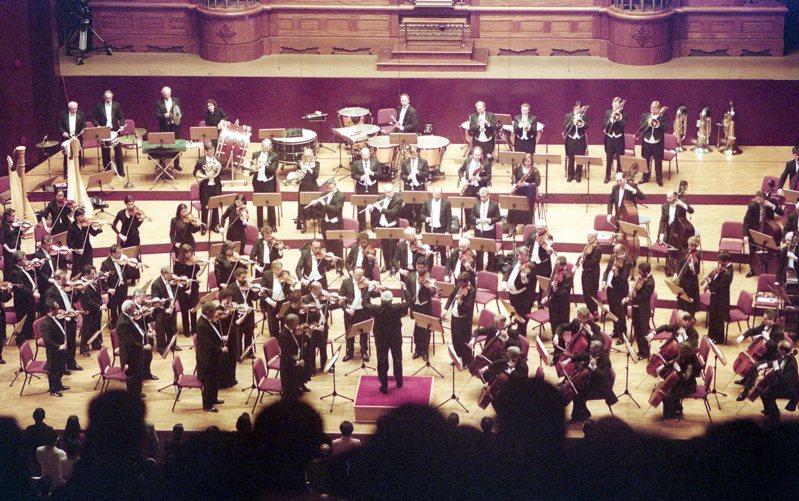 美國費城管弦樂團來台,在台北國家音樂廳進行演出。圖/聯合報系資料照片
