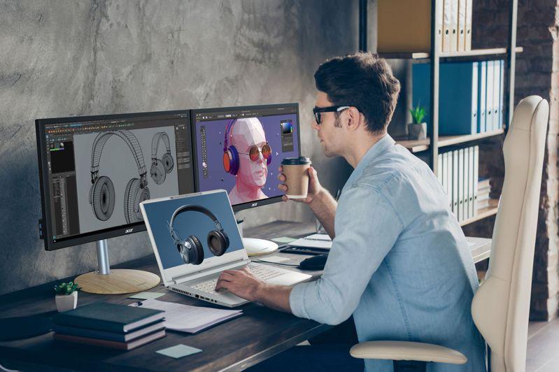 宏碁發表SpatialLabs 為ConceptD創作者開拓全新3D立體體驗。宏碁提供