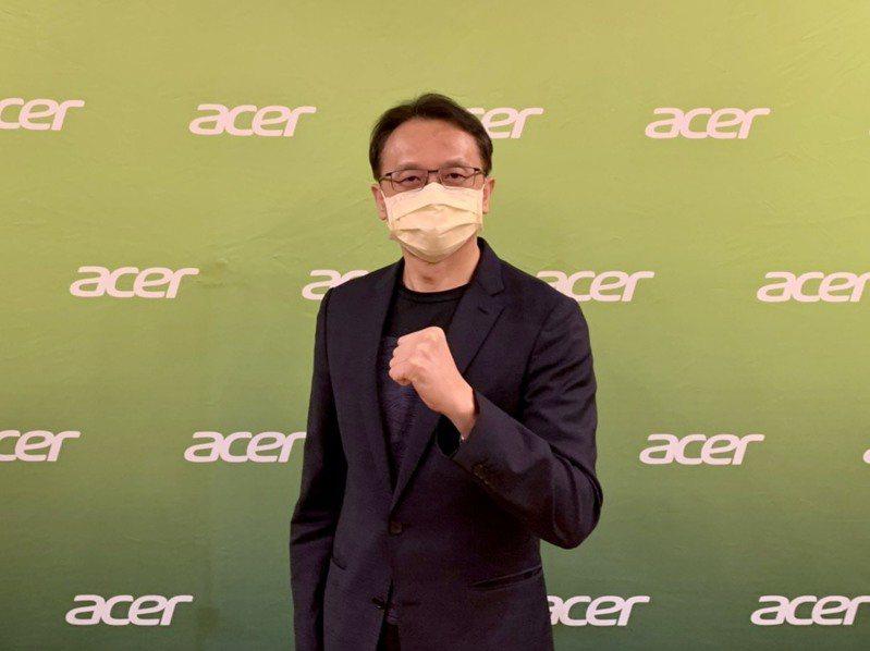 宏碁昨(27)日舉行新品發布會,董事長陳俊聖今(28)日接受媒體線上聯訪。 圖/宏碁提供