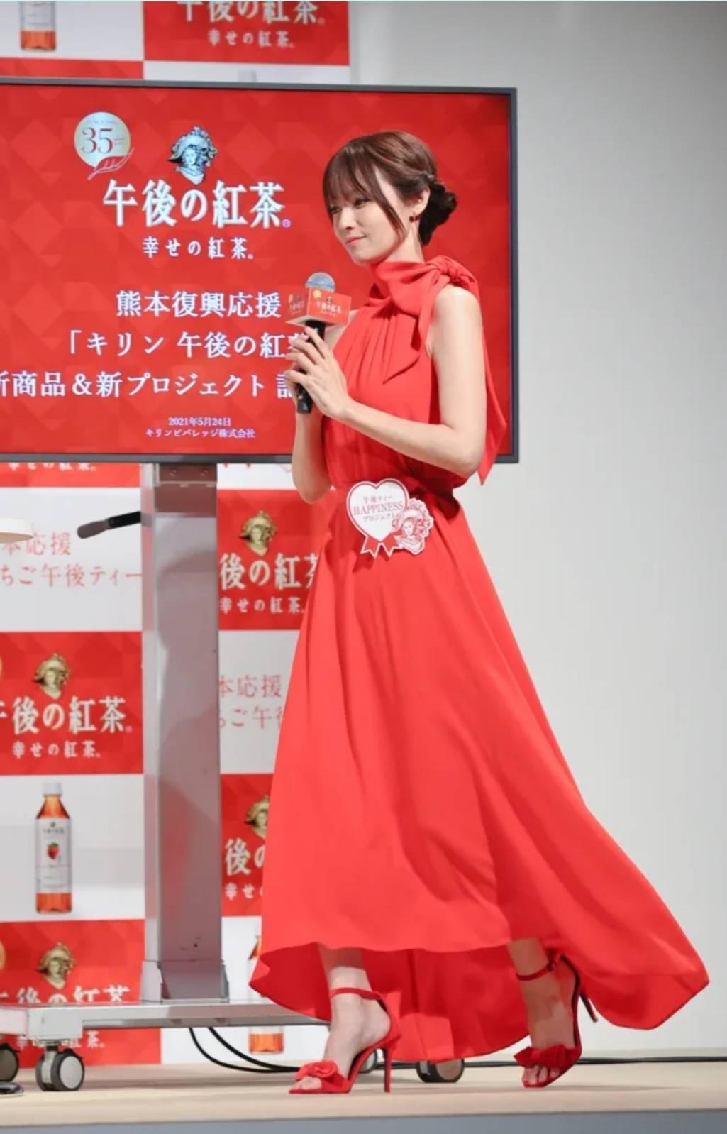 深田恭子消瘦成紙片人。圖/摘自Fuji.tv