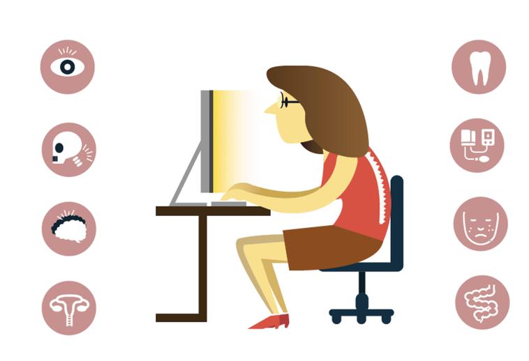 身體疾病和心理狀態可能因為壓力、隔離和各種生活習慣的改變而加劇。圖/123RF