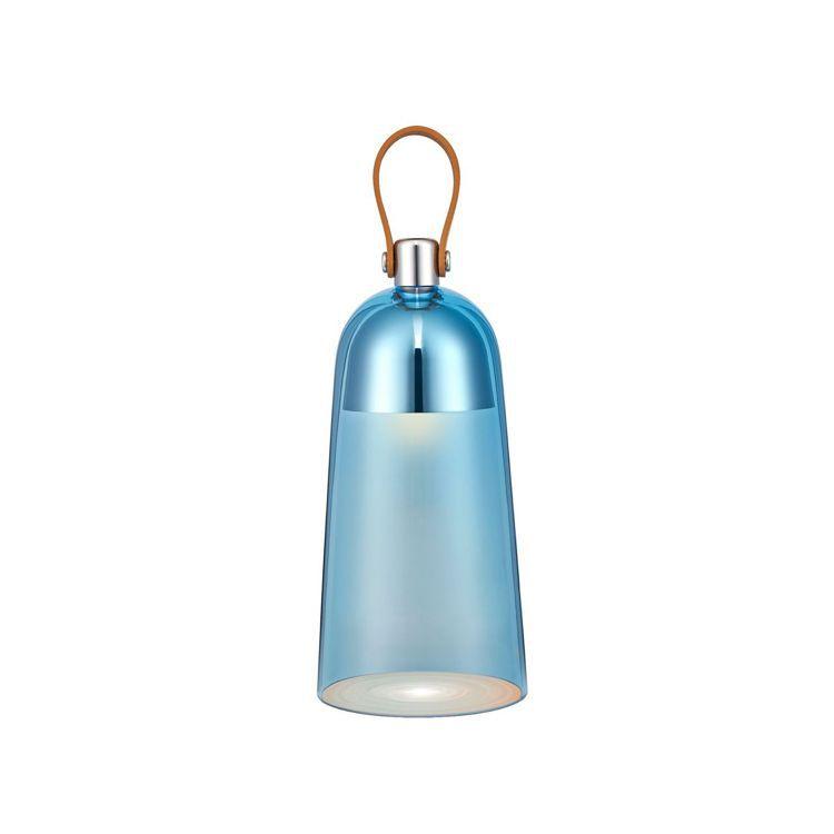 藍色豹紋系列花冠造型可擕式桌燈,由建築師Noé Duchaufour-Lawra...