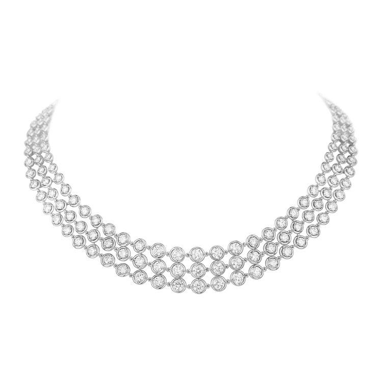 Palmyre項鍊,白K金鑲嵌鑽石,約510萬元。圖/梵克雅寶提供