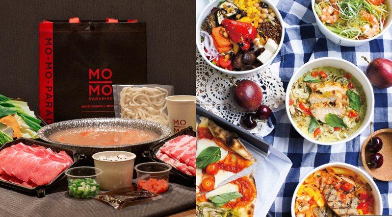 直至台灣恢復二級防疫為止,4大品牌祭出外帶「8折優惠」。圖/MO-MO-PARADISE提供、Bellini Pasta Pasta臉書專頁
