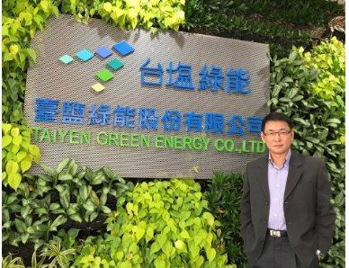臺鹽綠能總經理蘇坤煌是漁電共生的最大推手。  臺鹽綠能/ 提供