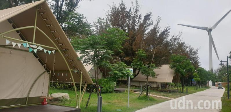 台中豪華露營區「向海那漾」目前因疫情暫休園。記者游振昇/攝影