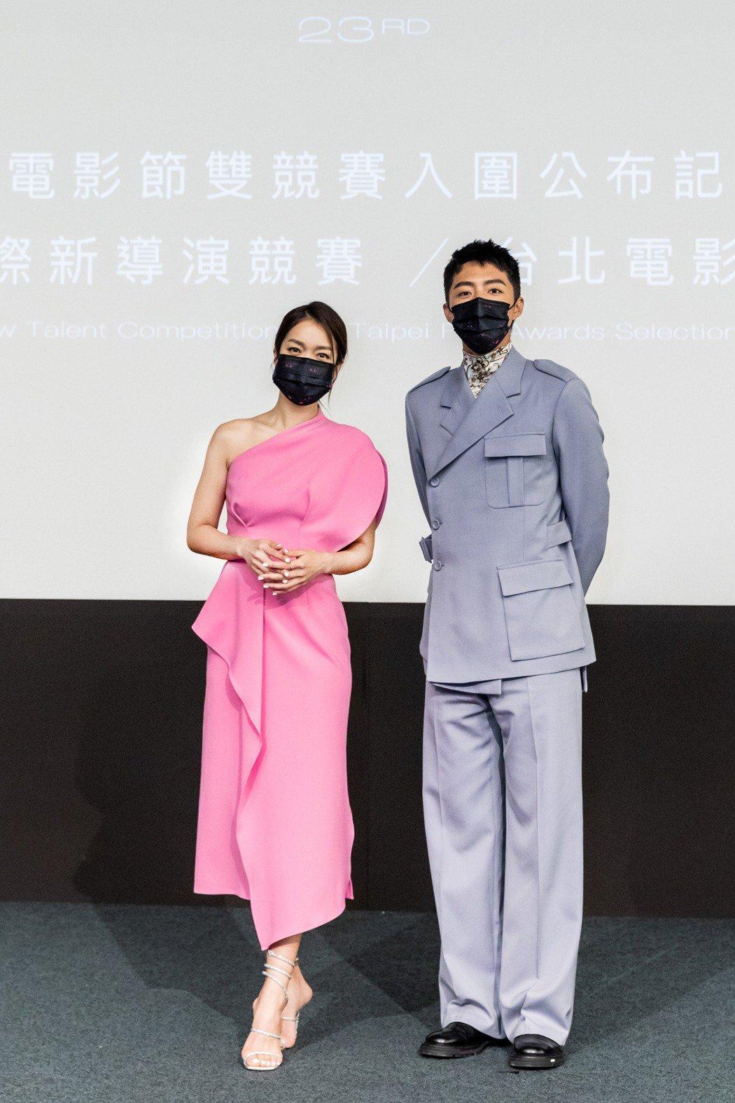 李霈瑜(左)、蔡凡熙(右)日前才擔任2021年台北電影獎入圍名單揭曉人。圖/台北...
