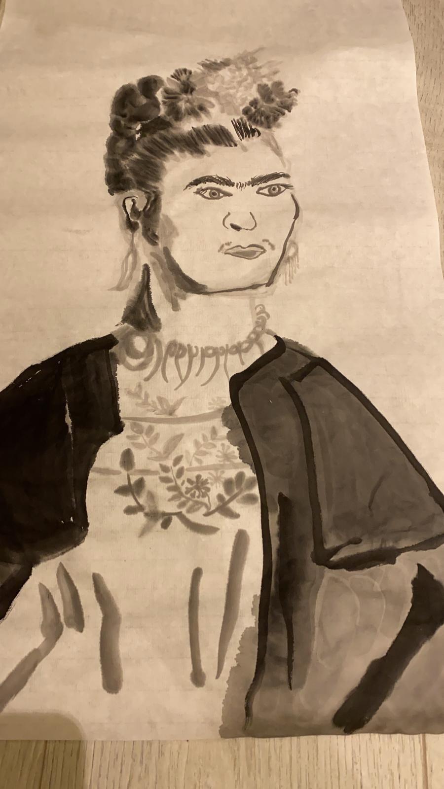 陶子的水墨畫。圖/陶子提供