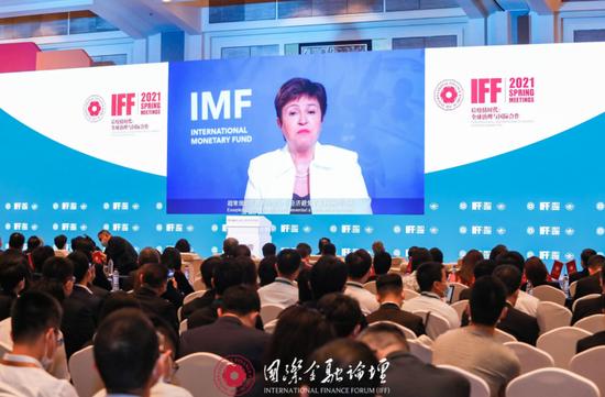 IMF總裁喬治艾娃預計,到2026年大陸對全球經濟增長的平均貢獻率將超過四分之一。(圖/取自新浪網)