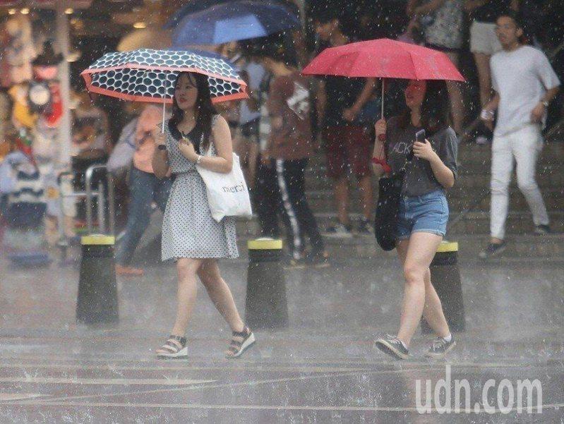 2021年進入梅雨季以來,今(30)日降雨最明顯。 聯合報系資料照片