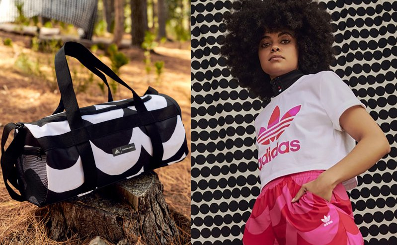 芬蘭設計師品牌Marimekko與adidas推出聯名系列服裝。圖/Marimekko提供