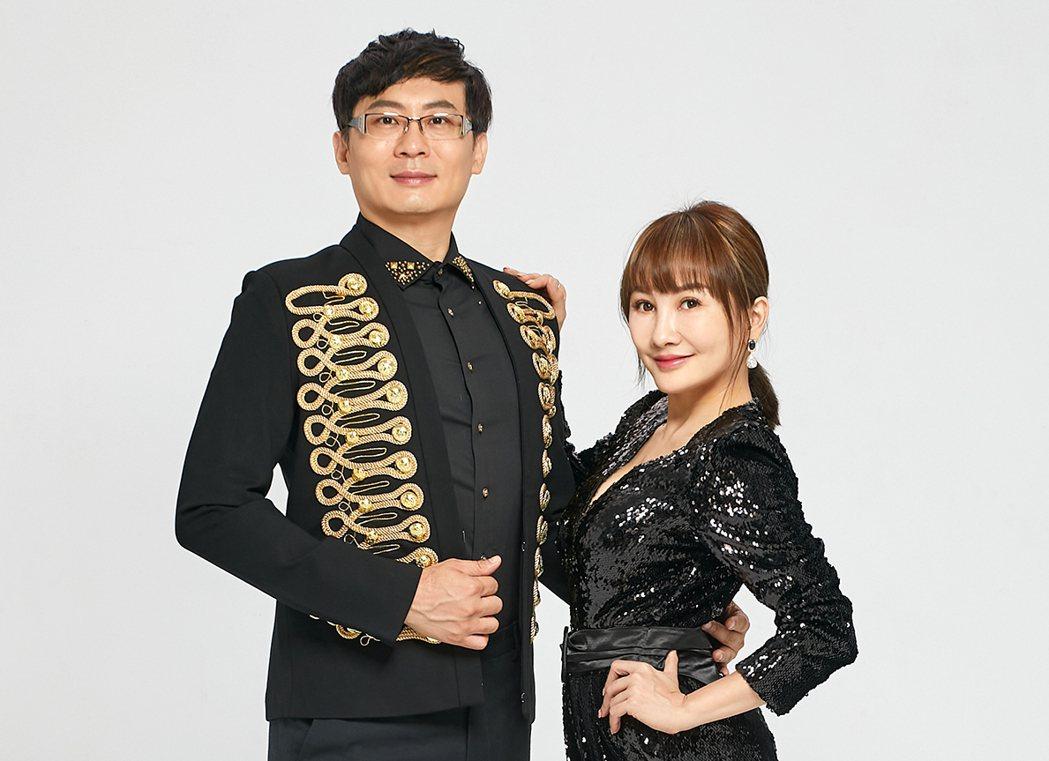 王宥忻(右)跟老公翁承旭於公於私都黏踢踢。圖/固力狗娛樂提供