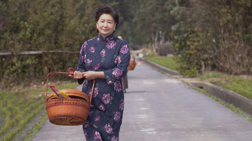 蘇明明在「觀音對我笑」劇中飾演本尊謝來文的母親仁慈溫柔。圖/大愛台提供