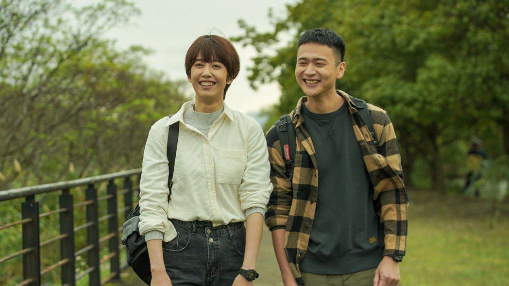 劉冠廷(右)、陳庭妮在「火神的眼淚」中「伶陽CP」冒粉紅泡泡後,卻是錐心之痛。圖