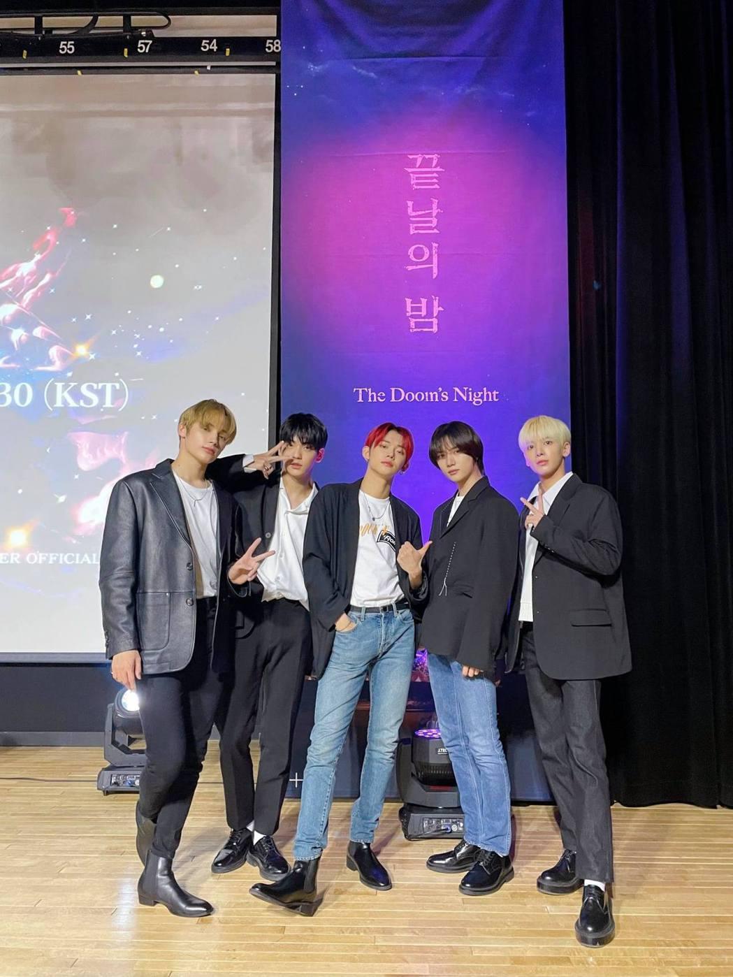 韓國男團TXT。圖/擷自TXT臉書