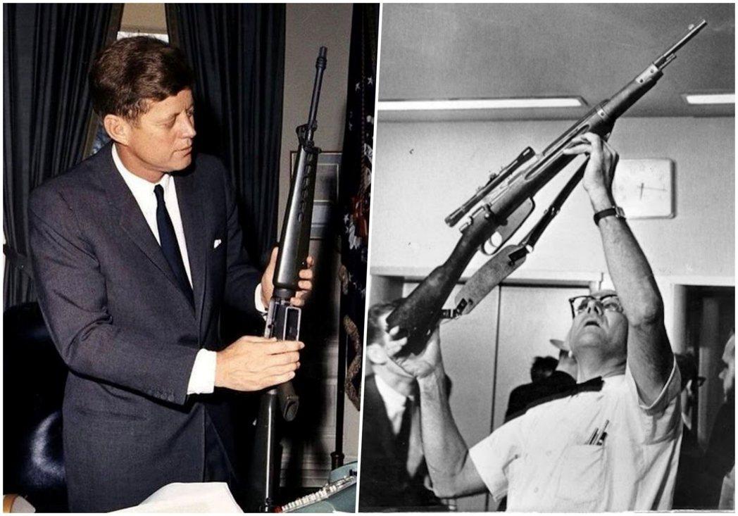 曾為全國步槍協會成員的甘迺迪總統,後來也成為步槍下的犧牲者。圖左為甘迺迪在白宮裡...