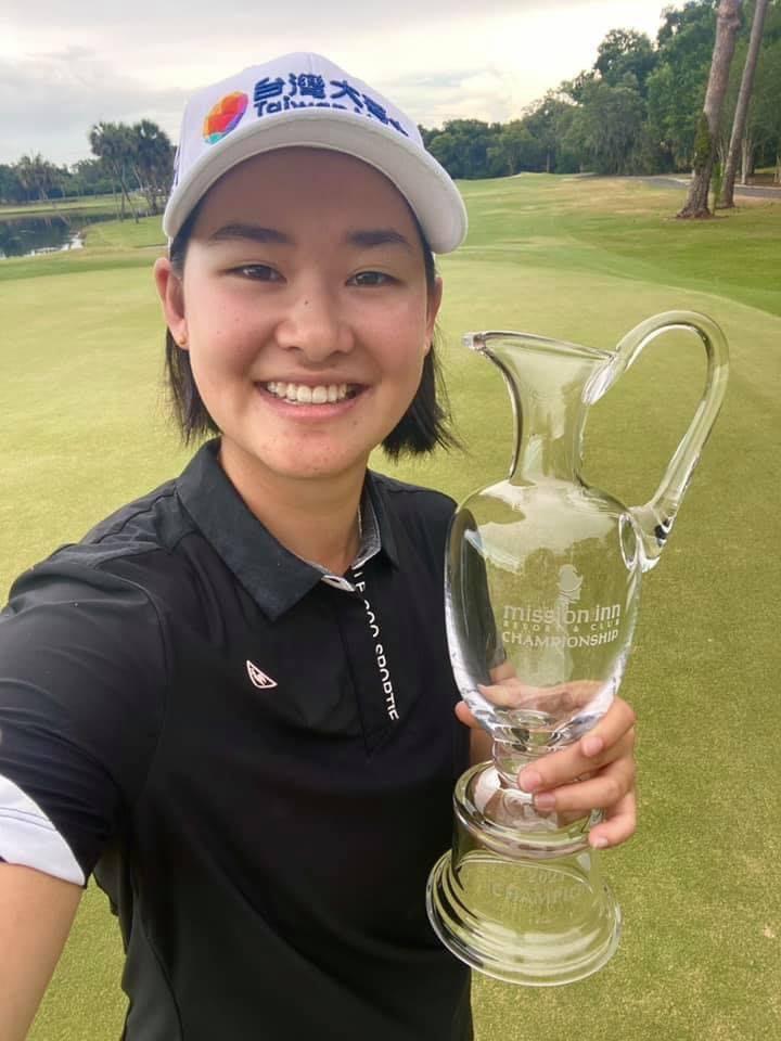 李旻笑納個人第3座次巡賽冠軍。圖/李旻提供
