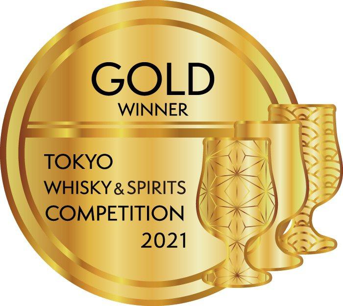 2021年TWSC東京國際威士忌與烈酒競賽「金賞」。圖/金車噶瑪蘭提供。提醒您:...