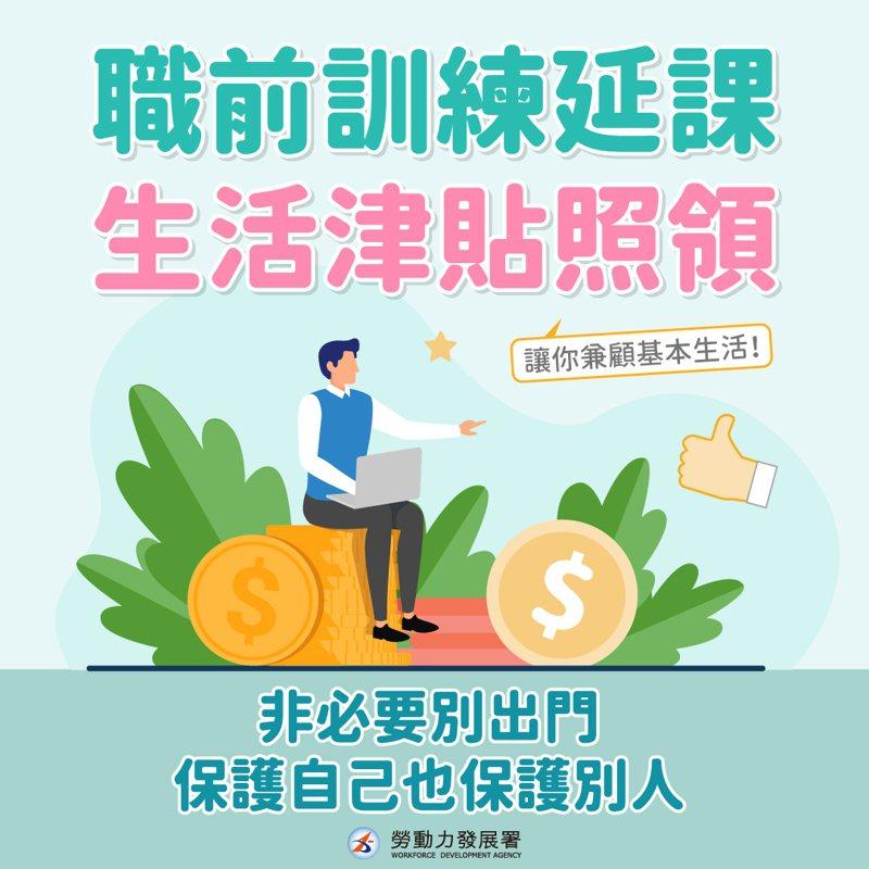 職訓生活津貼圖卡。圖/勞動部提供