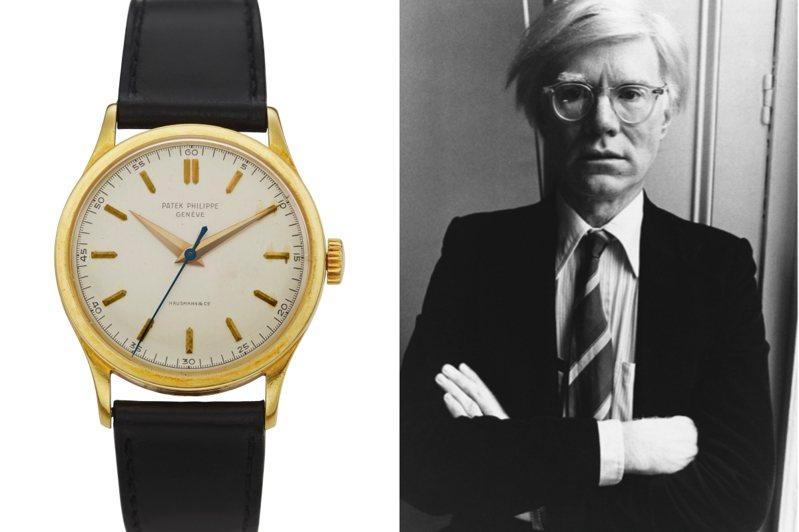 曾為普普藝術大師安迪沃荷收藏的百達翡麗編號570 18k金腕表,將領銜下週佳士得紐約的線上鐘表專場。圖/佳士得提供