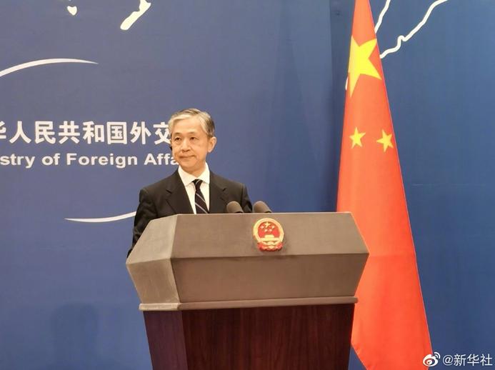 大陸外交部發言人汪文斌。(新華社微博照片)