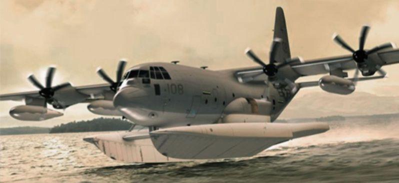 美軍公布的MC-130J特戰運輸機水上版想像圖。圖/美國空軍檔案照