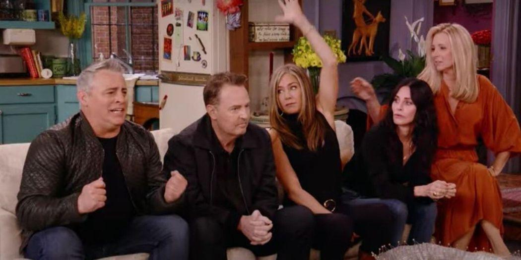 「六人行」原班人馬齊聚拍攝特別篇「六人行:當我們又在一起」。圖/HBO Max提...