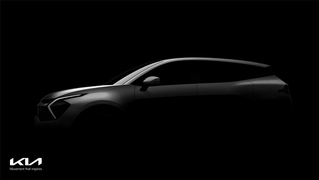 Kia首度釋出大改款Sportage預告剪影照。 摘自Kia