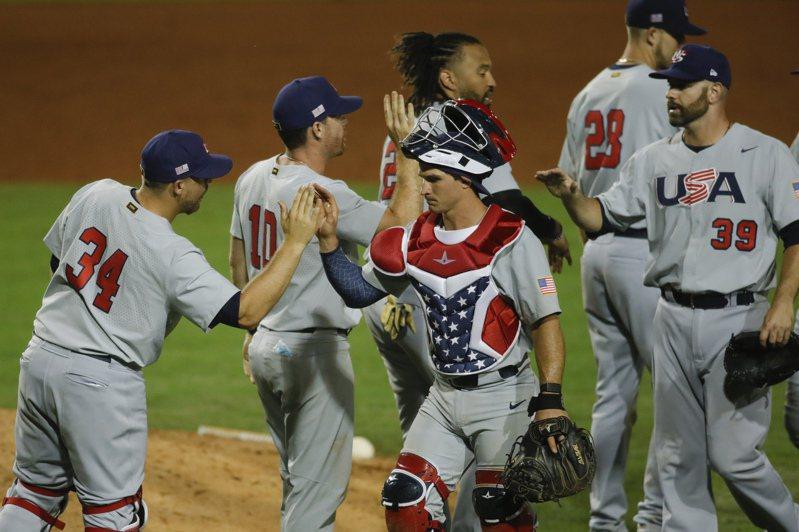 美國隊投打輾壓,以7比1輕取尼加拉瓜。 路透社