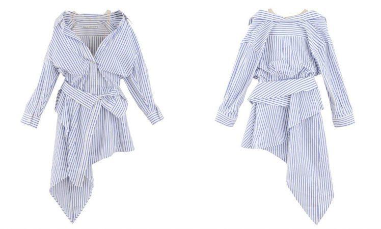 alexanderwang 不規則襯衫式洋裝/價格店洽。圖/微新聞提供