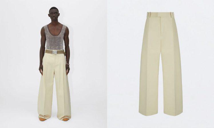 Bottega Veneta 卡其色寬褲/價格店洽。圖/微新聞提供