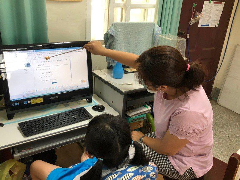 因應疫情停課不停學,台南市設置特教免費資源專區,讓特教生學習不中斷。圖/台南市教育局提供