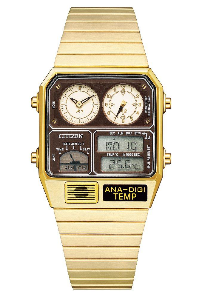 CITIZN JG2103-72X腕表,鍍金色不鏽鋼表殼、表鍊8,900元。圖/...