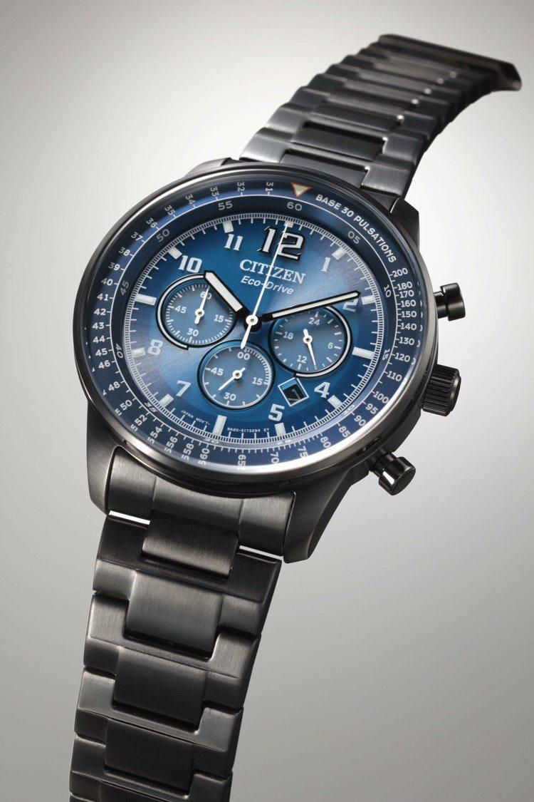 CITIZN CA4505-80L腕表,鍍碳黑不鏽鋼表殼、表鍊12,900元。圖...