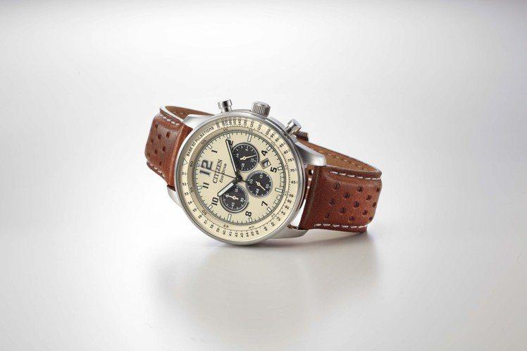 CITIZN CA4500-16X腕表,不鏽鋼表殼、搭配皮革表帶,台灣限量100...