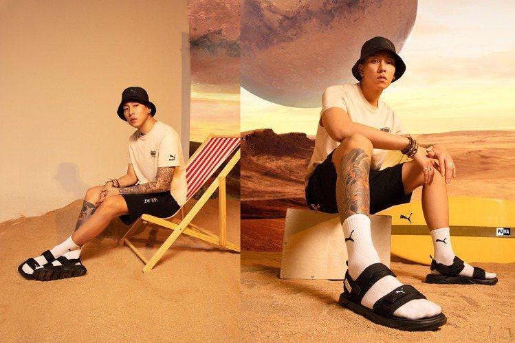 有著「行走的費洛蒙」封號的瘦子E.SO,在這個夏天示範了如何以涼鞋造型,搭出充滿...
