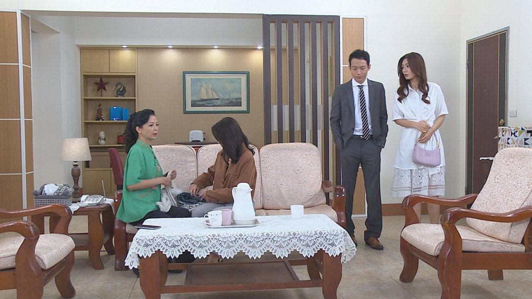 高欣欣(左起)、顏曉筠、張哲豪、李又汝被網友封「妖怪家族」,逗趣又荒謬的劇情在疫