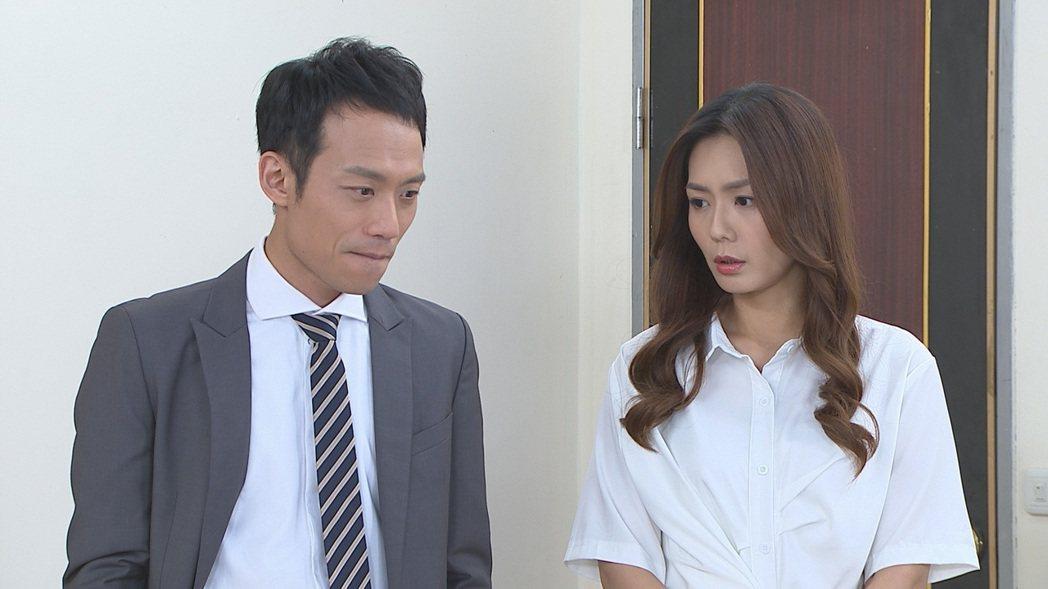 張哲豪(左)、李又汝在「多情城市」中被網友封為「妖怪CP」。圖/民視提供