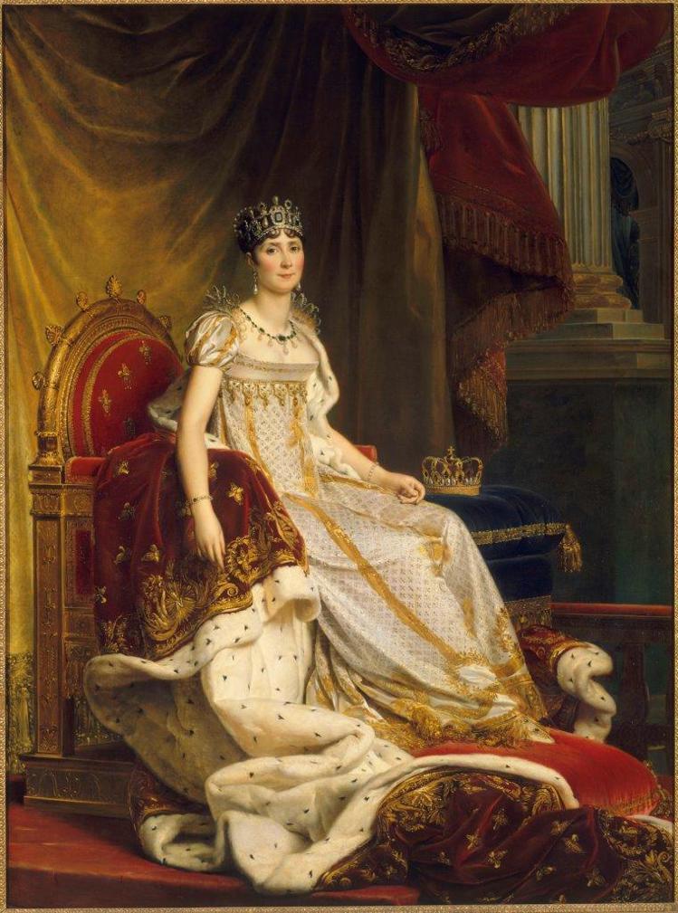 穿著加冕禮服的約瑟芬皇后肖像,是來自楓丹白露博物館的典藏。圖/Chaumet提供