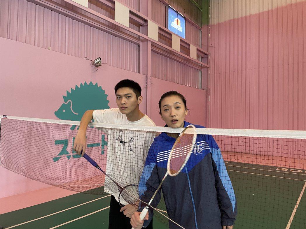 林輝瑝之前常和小8趙逸嵐一起打羽球。圖/凱渥提供