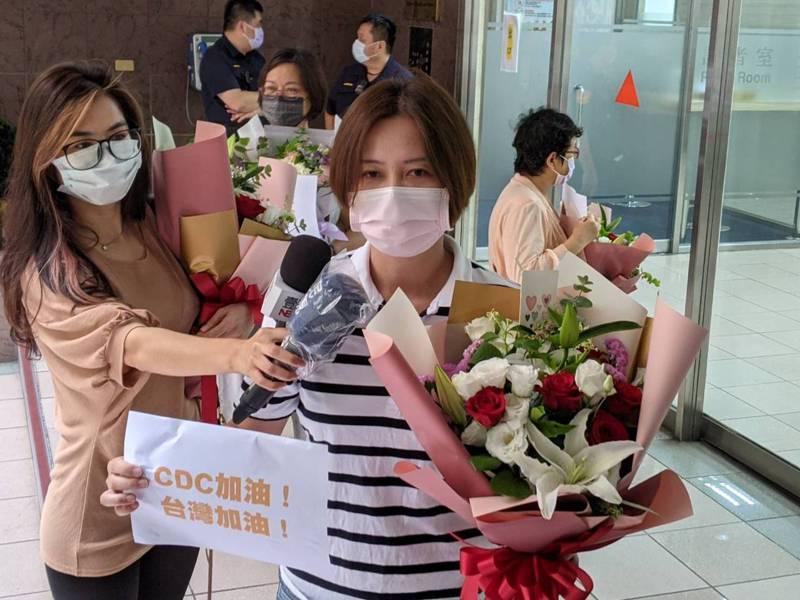 立委莊瑞雄北區執行長林延鳳現身力挺疾管署。圖/記者謝承恩攝影