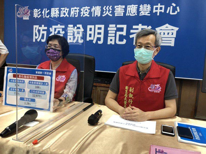 彰化縣新冠肺炎疫苗量目前估算可提供8成醫護人員施打。記者林敬家/攝影