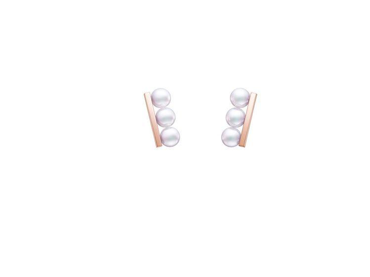 TASAKI balance neo珍珠櫻花金耳環,85,700元。圖/TASA...