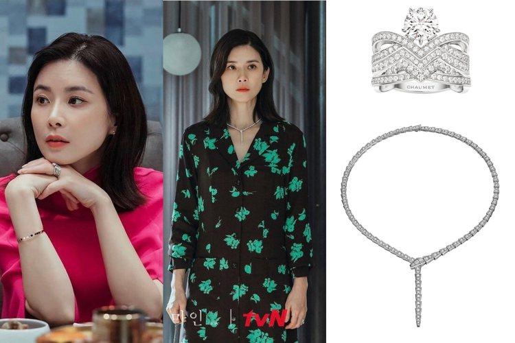 李寶英配戴國際大品牌的珠寶演繹豪門貴婦。圖/取自IG、品牌提供