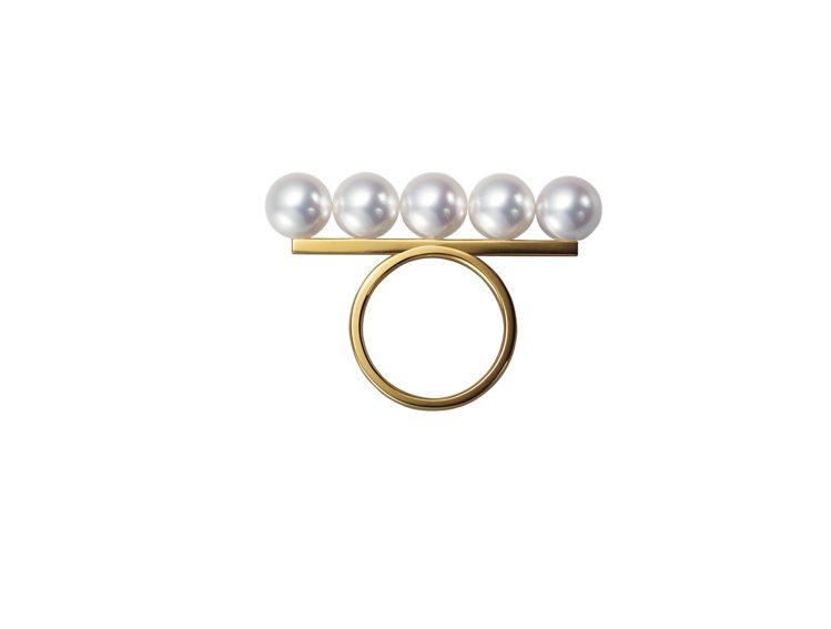 TASAKI balance signature珍珠黃K金戒指,10萬6,000...