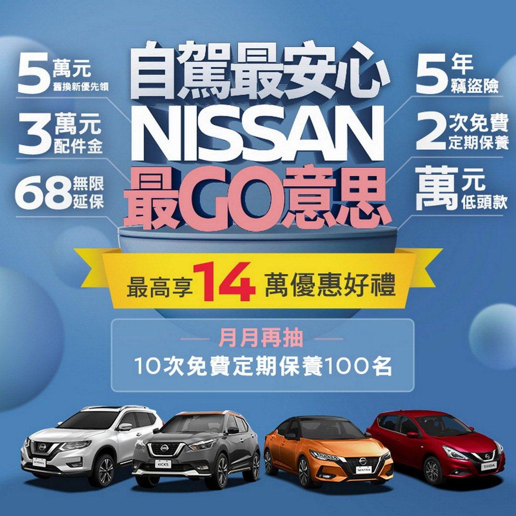 疫情期間,裕隆日產為滿足消費者「安心自駕」移動需求,限時推出「NISSAN GO...