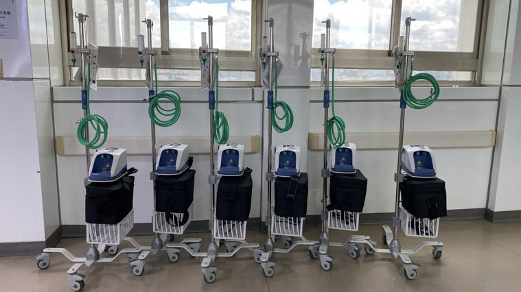 圖說/圖為醫美診所捐贈台大醫院之同型呼吸支持器。