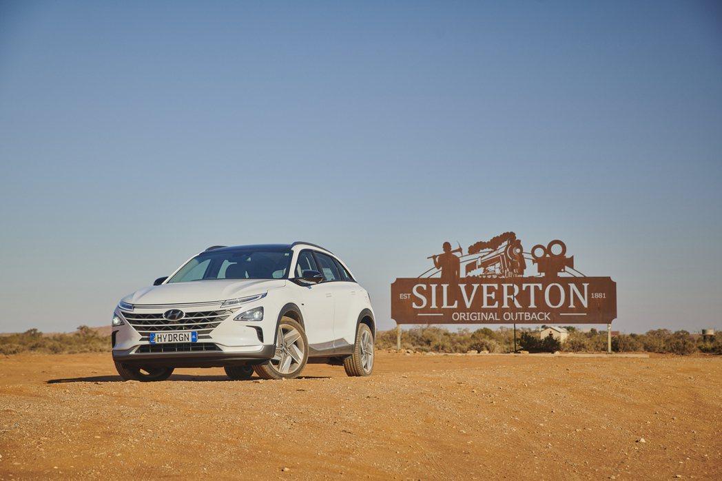 Hyundai Nexo氫燃料車日前於澳洲挑戰單趟最遠行駛紀錄。 摘自Hyund...